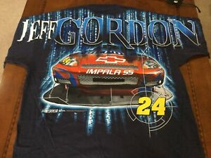 Rare Vintage NASCAR Shirt Jeff GORDON DUPONT All Over Total Print New W/tag XXL