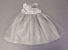 Gymboree Toddler Girl's Sleeveless Dress With Rose Detail NB7 Silver Size 2T