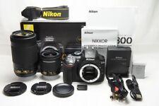 Nikon D5300 24.2MP Digital SLR Camera Black w/ 18-55mm & 70-300mm Lens #210428g
