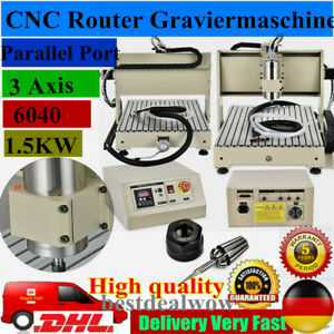 3 Axis 6040 CNC Router Engraver Engraving Mill Machine 1.5KW Metalworking Cutter