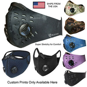Face Masks Filtered with Nose Cushion Ships Fast From USA 9 Colors