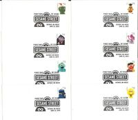 USA 2019 Sesame Street Set of 8 First Day Covers FDC With 8 Forever Stamps