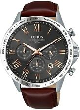 Lorus RT343GX9 Chronograph Brown Strap, Stainless Steel Case 50M WR RRP £150.00