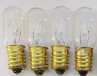 4 Arcade Bulbs Brass Base E14 T5.5 Midway 130 volt 10 watt lamp NWOB 203B