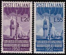 ITALIA REPUBBLICA 1950 - n. 623/24 RADIODIFFUSIONE INTEGRI SPL € 260