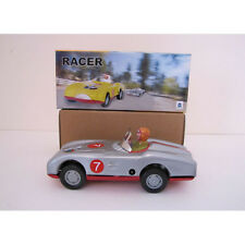 RACER CAR # 7 Wind-up Tin Toy NEW IN BOX Lots of Fun MS 638 Engine Spins