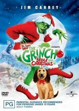 The Grinch Stole Christmas (DVD) Jim Carrey - Region 4 - New and Sealed