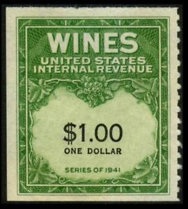 RE173 REVENUE Wine Stamp $1 Green SERIES 1941 Unused MNH SEE PHOTOS Lot D-481