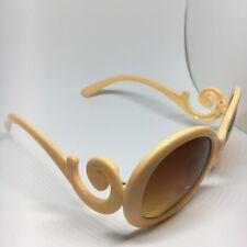 Inspirado diseñador Barroco Remolino Círculo Gafas De Sol Para Hombre Mujer Unisex Melocotón