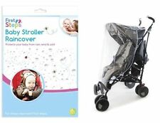 Universal Rain Cover for Buggy Pushchair,Stroller with Baby Blue edge UK Seller