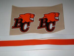 CFL BC-LIONS FULL SIZE FOOTBALL DECALS