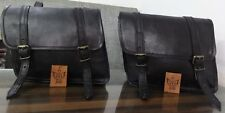 Saddlebags Motorcycle  Pouch Black Leather Two Bags  Panniers Design By Jasol