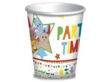 Decoración y menaje vasos de papel de cumpleaños infantil para mesas de fiesta