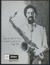 1976 Selmer Mark VI saxophone Sonny Rollins portrait vintage print ad