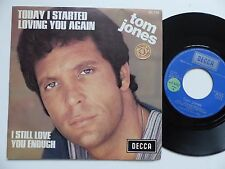 TOM JONES Today i started loving you again 84176  FRANCE Sticker PROMO RTL
