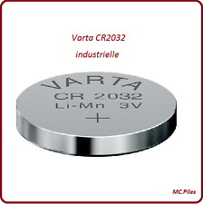 Piles/Cells boutons 3V lithium Varta, CR2032/2025/2016/1220/1616/1620/2430/2450