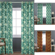 Thick Luxury Floral Blackout Curtains Modern Bedroom Living Room Kitchen Drapes