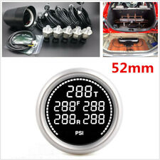 "2"" 52mm 7Colors Air Suspension Pressure Gauge With 5Pc 1/8NPT Electrical Sensors"