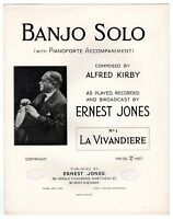 "ALFRED KIRBY / ERNEST JONES ""No. 1 - La Vivandiere"" 1929 [BANJO SHEET MUSIC]"
