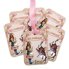NEW Favour Tags Alice in Wonderland Vintage White Rabbit Gift Tags-Birthday-6