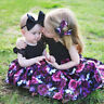 Toddler Baby Kids Girsl Floral Princess Long Dress+Headband Party Outfit 2PCS