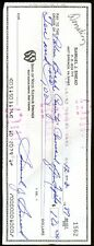 Sam Snead Signed Jsa Certified Check Authenticated Autograph