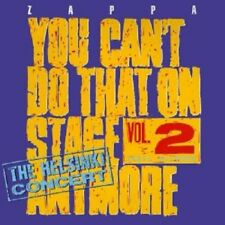 FRANK ZAPPA YOU CAN'T DO THAT ON STAGE ANYMORE VOL  2 2 CD NEW unsealed