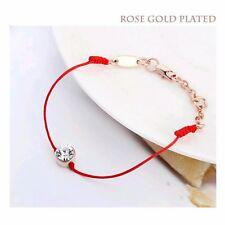 Friendship Bracelet Black,Red,Charms,Adjustable Crystal Swarovski,Secret Santa