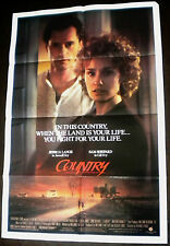 Country 1984 Jessica Lange Sam Shepard Original US Poster
