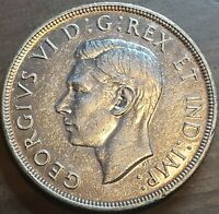 1946 CANADA $1 VOYAGERS King George VI Silver Dollar Coin Key Date