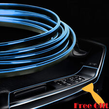 10M DIY Blue Car Interior Molding Edge Gap Line Decor Accessory Garnish Strip