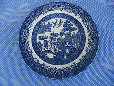 royal wessex china blue willow pattern bread & butter plate