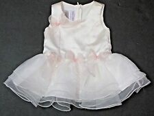 IRIS & IVY Ivory Cream & Pink Sleeveless Layered Dress 0-3 Months