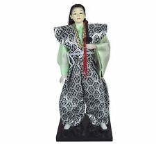 "Traditional Japanese Female Samurai Doll Figurine Fabric Hand Crafted 12"" H New"