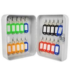 Steel Key Cabinet Locker Safe 2 X Keys Security Wall Mounted Metal Storage Case