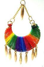 Earrings Jhumka Chand Bali Drop Dangle Long Hoop Hook Boho Chic LGBT Jewelry B9