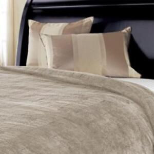Sunbeam Heated Blanket - Microplush, 10 Heat Settings, Garnet, Full