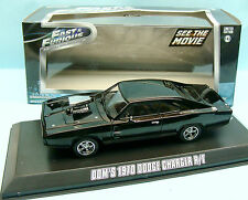 17350 GREENLIGHT / FAST & FURIOUS / DOM'S 1970 DODGE CHARGER R.T 1/43