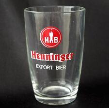Vintage HENNINGER Bier Advertising Beer Logo Bar Glass