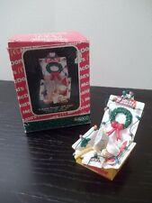 "McDONALD'S ENESCO 1991-1993 CHRISTMAS ORNAMENT ""QUARTER POUNDER WITH CHEER"""