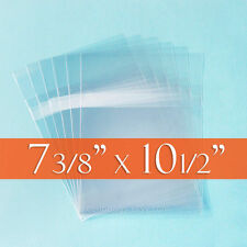 "100 Clear Cello Bags, 7 3/8"" x 10 1/2"" inch Comic Book Size, Protective Seal"