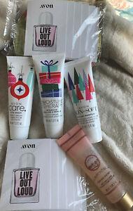 Avon Skin So Soft Moist Therapy 3-1.5 Fl Oz Tubes 1 Black Rose 1oz Scrub Samples