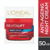 L'Oreal Paris Revitalift Night Cream 50ml Anti Ageing Anti Wrinkle & Firming