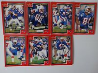 1999 Score Series 1 New England Patriots Team Set of 7 Football Cards