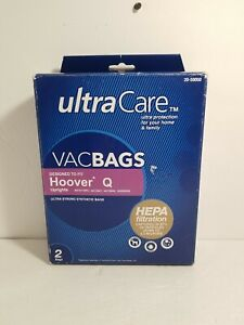 Vacuum Bags for Hoover™ type Q Upright HEPA - 2pk Open Box Never Used