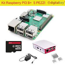 Kit Completo Raspberry PI3 B+ Plus Case MicroSD 32Gb Alim 3A Dissip. (no PI4 )