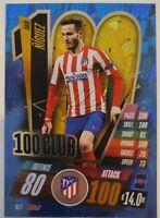 2020/21 Match Attax UEFA Champions League - Saul Niguez 100 Club Atletico Madrid