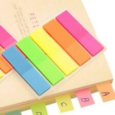 100X Fluorescence Sticky Notes Memo Flags Bookmark Sticker New Marker S4Q0