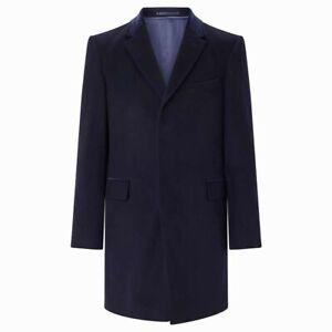Richard James Mayfair Wool Cashmere Epsom Overcoat Navy RRP£495
