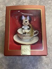 "Rare Disney Lenox ""A Ride With Minnie Ornament� - Disney Teacup Retired In Box"